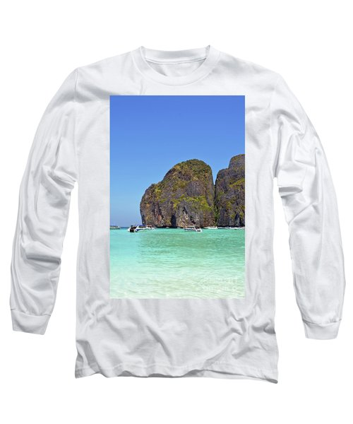 Long Sleeve T-Shirt featuring the digital art Phi Phi Islands by Eva Kaufman