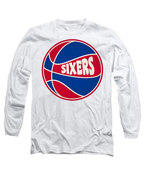 Philadelphia 76ers Retro Shirt Long Sleeve T-Shirt by Joe Hamilton