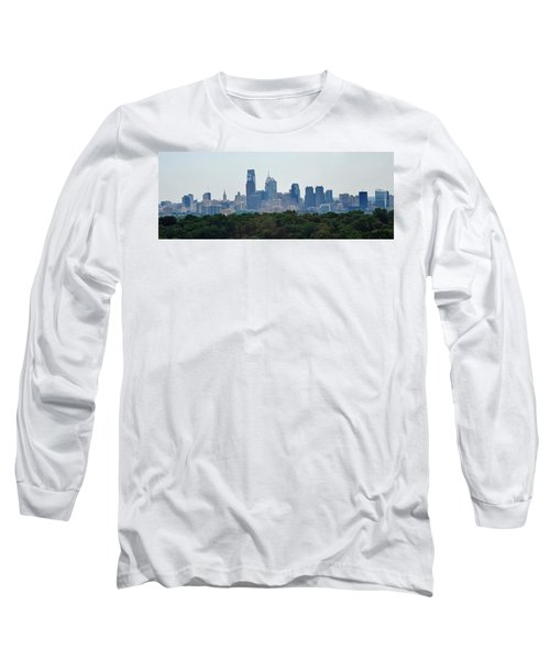 Philadelphia Green Skyline Long Sleeve T-Shirt by Ian  MacDonald