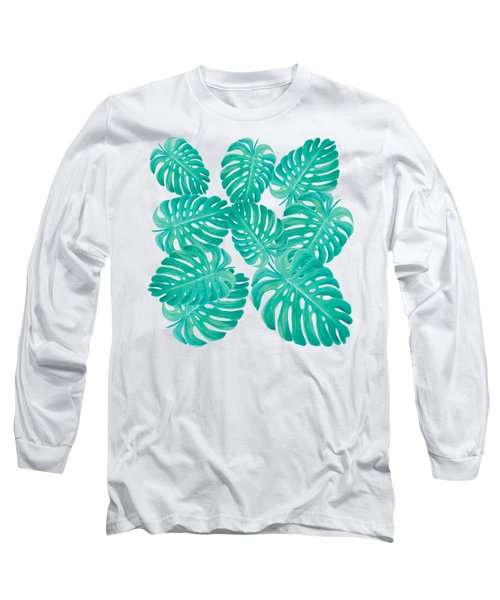Philodendron Leaves Long Sleeve T-Shirt by Jan Matson