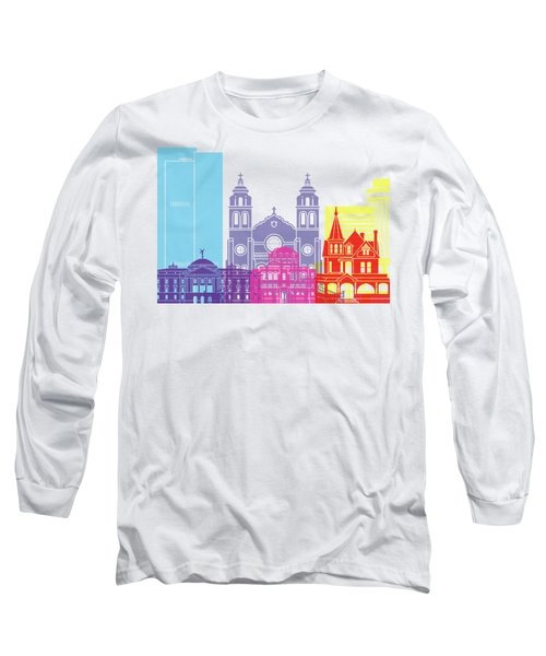 Phoenix Skyline Pop Long Sleeve T-Shirt by Pablo Romero