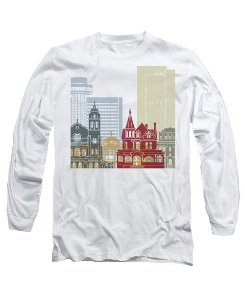 Phoenix Skyline Poster Long Sleeve T-Shirt by Pablo Romero