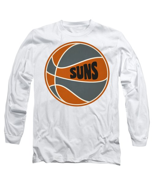 Phoenix Suns Retro Shirt Long Sleeve T-Shirt by Joe Hamilton