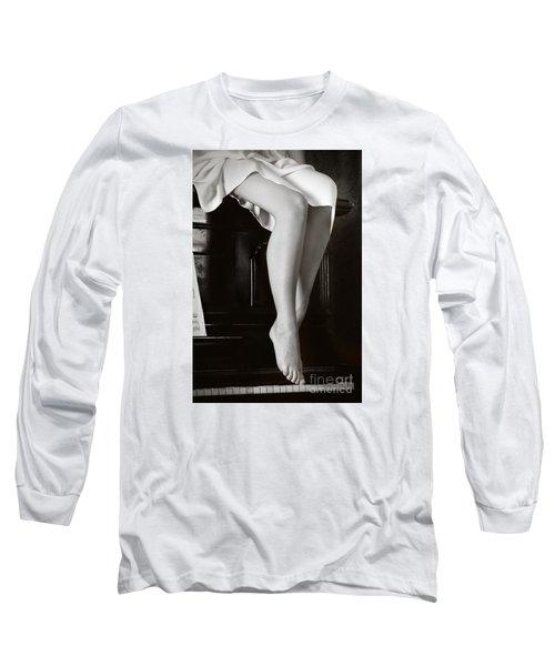Piano #021389 Long Sleeve T-Shirt by Andrey Godyaykin