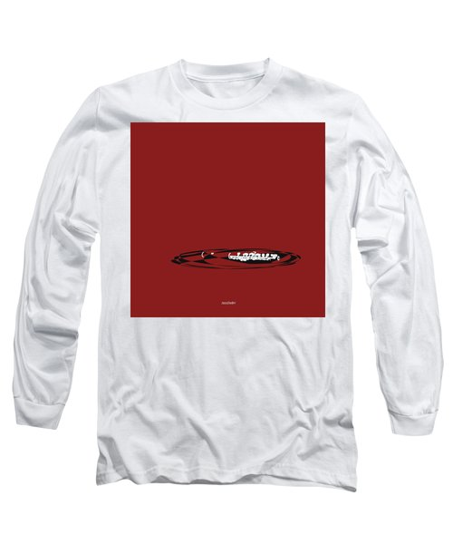 Long Sleeve T-Shirt featuring the digital art Piccolo In Orange Red by Jazz DaBri