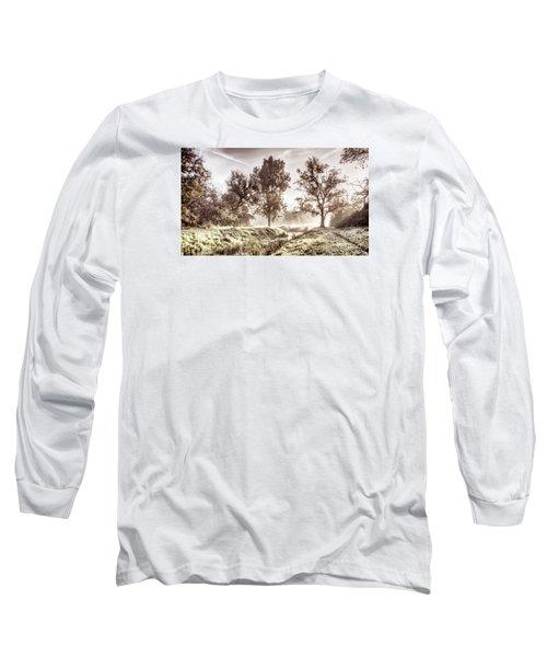 Pictorial Autumn Landscape Artistic Picture Long Sleeve T-Shirt by Odon Czintos