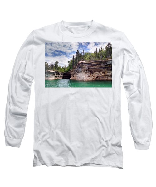 Pictured Rocks Long Sleeve T-Shirt by Alan Casadei