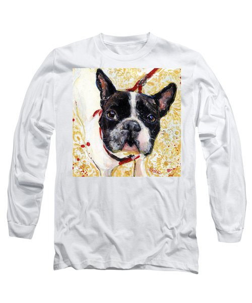 Long Sleeve T-Shirt featuring the painting Pie And I by Molly Poole
