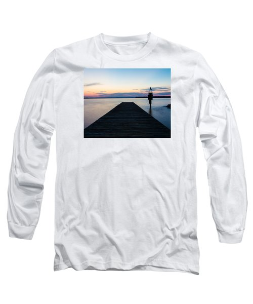 Pier At Sunset 16x20 Long Sleeve T-Shirt