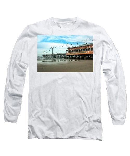 Pier Daytona Beach Long Sleeve T-Shirt by Carolyn Marshall