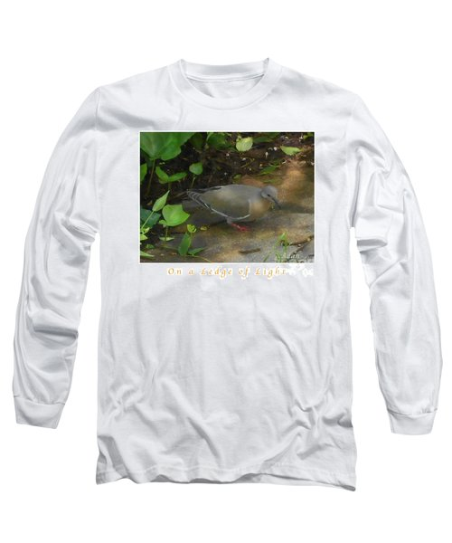 Pigeon Poster Long Sleeve T-Shirt by Felipe Adan Lerma