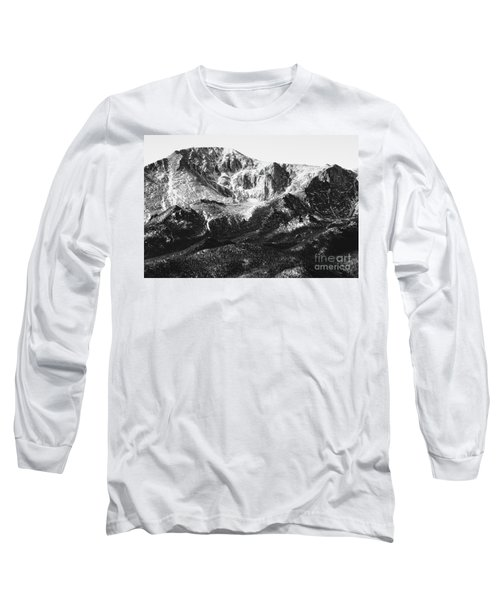 Pikes Peak Black And White In Wintertime Long Sleeve T-Shirt