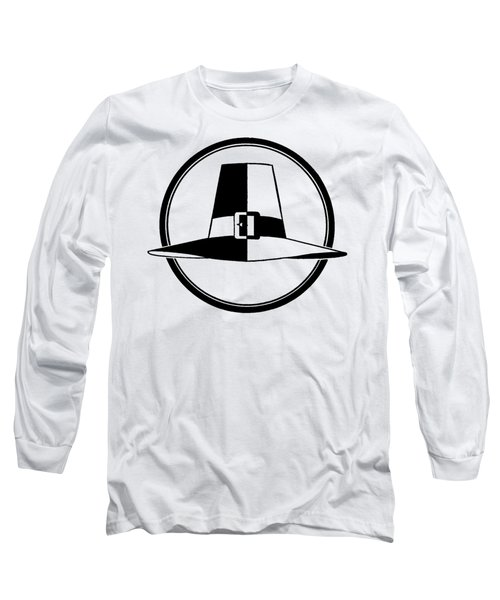 Long Sleeve T-Shirt featuring the digital art Pilgrim Hat - Tee Shirt by rd Erickson