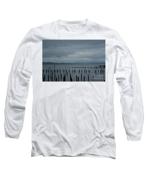 Pilings On Columbia River Long Sleeve T-Shirt