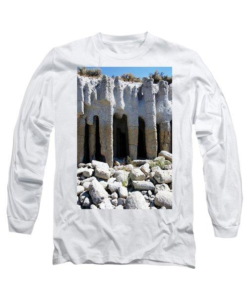 Pillars At Crowley Lake Long Sleeve T-Shirt