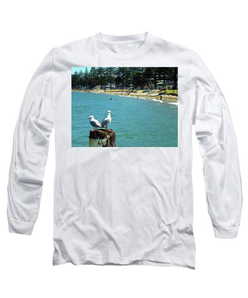 Pilot Bay Beach 4 - Mount Maunganui Tauranga New Zealand Long Sleeve T-Shirt by Selena Boron