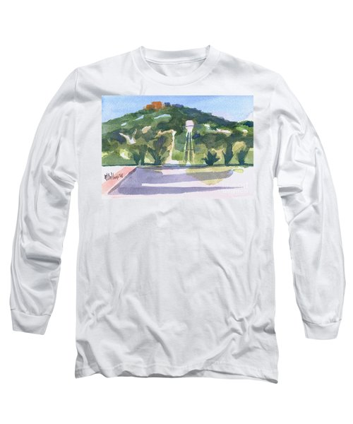 Long Sleeve T-Shirt featuring the painting Pilot Knob Mountain W404 by Kip DeVore
