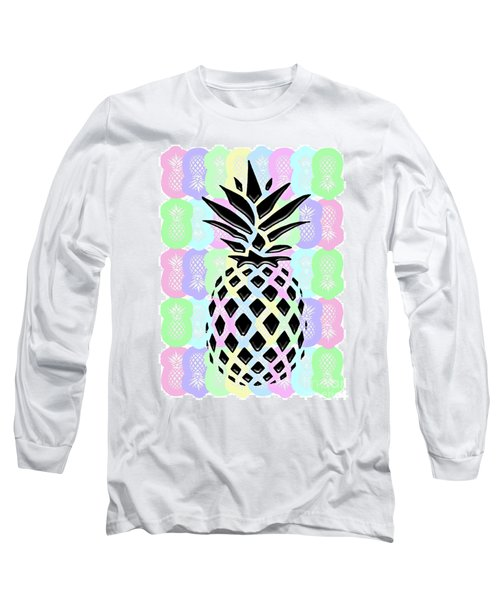 Pineapple Collage Long Sleeve T-Shirt
