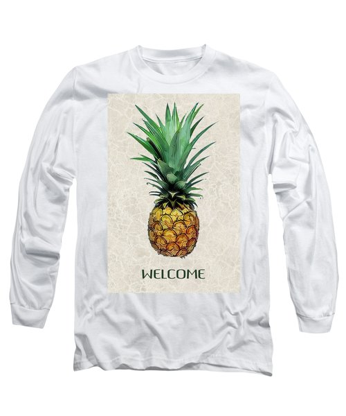 Pineapple Express On Mottled Parchment Welcome Long Sleeve T-Shirt