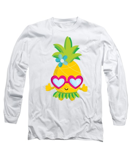 Pineapple Hula Long Sleeve T-Shirt
