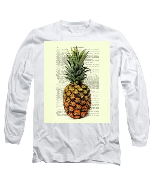 Pineapple In Color Illustration Long Sleeve T-Shirt