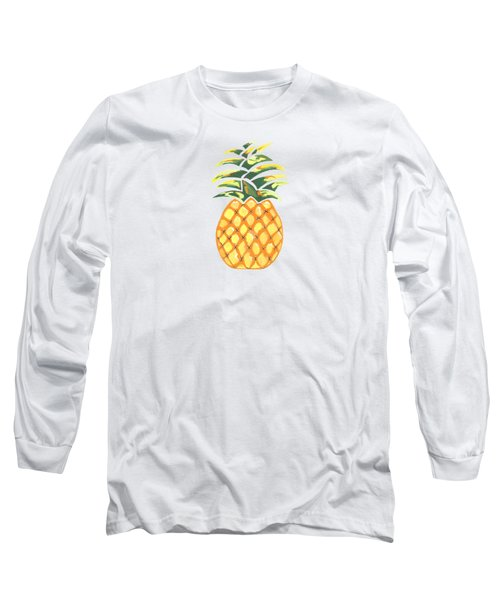 Pineapple Long Sleeve T-Shirt by Kathleen Sartoris