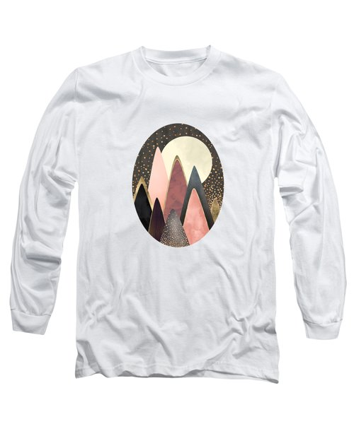 Pink And Gold Peaks Long Sleeve T-Shirt