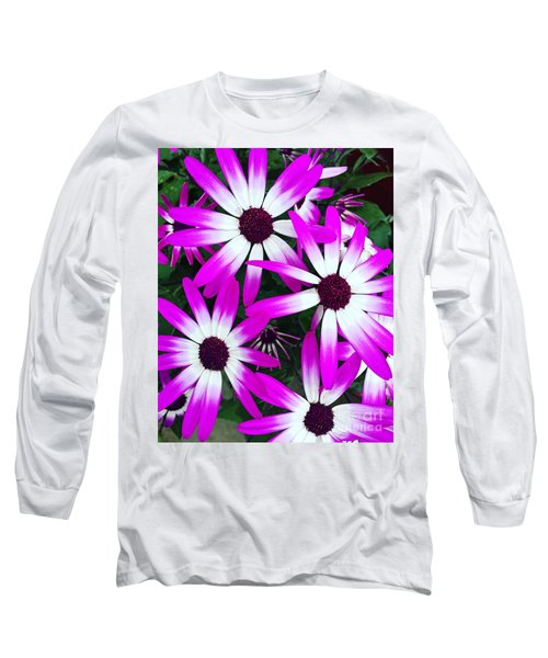 Pink And White Flowers Long Sleeve T-Shirt by Vizual Studio