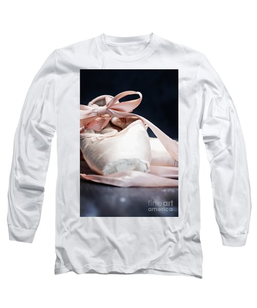 Pink Ballerina Pointe Shoes Long Sleeve T-Shirt