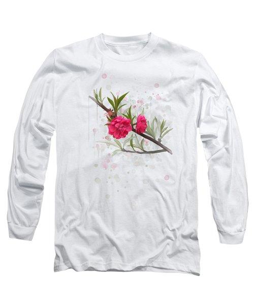 Hot Pink Blossom Long Sleeve T-Shirt