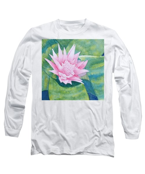 Pink Bromiliad Long Sleeve T-Shirt