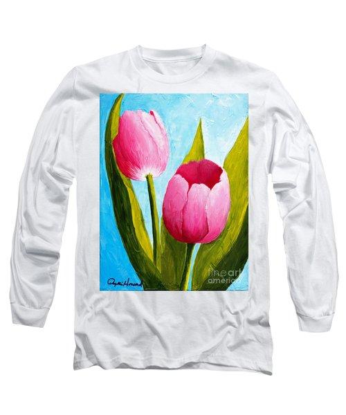 Pink Bubblegum Tulip II Long Sleeve T-Shirt