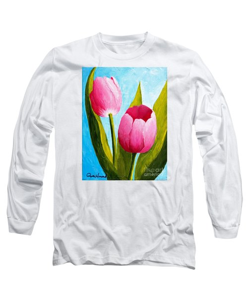 Pink Bubblegum Tulip II Long Sleeve T-Shirt
