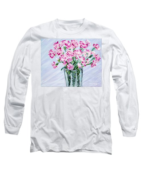 Pink Carnations In A Vase. For Sale Long Sleeve T-Shirt