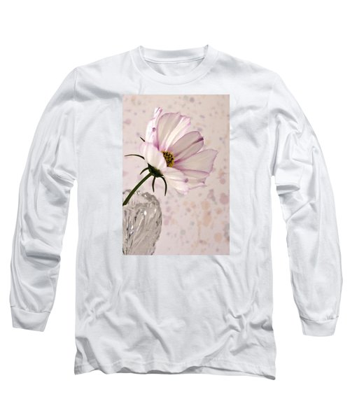 Pink Cosmo - Digital Oil Art Work Long Sleeve T-Shirt by Sandra Foster