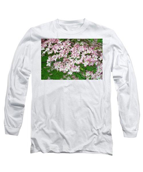 Pink Dogwood Flowers Long Sleeve T-Shirt