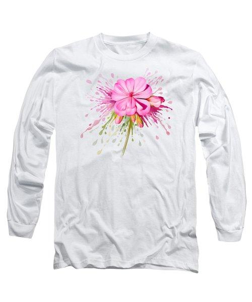 Pink Eruption Long Sleeve T-Shirt