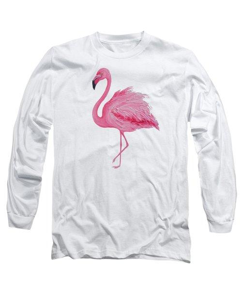 Pink Flamingo Long Sleeve T-Shirt