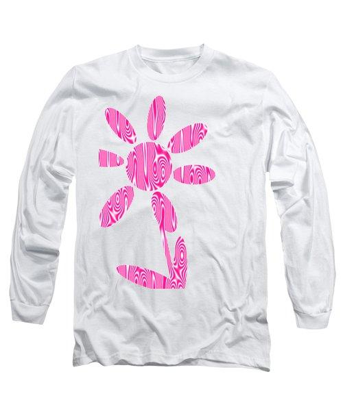 Pink Flower Long Sleeve T-Shirt by Kathleen Sartoris