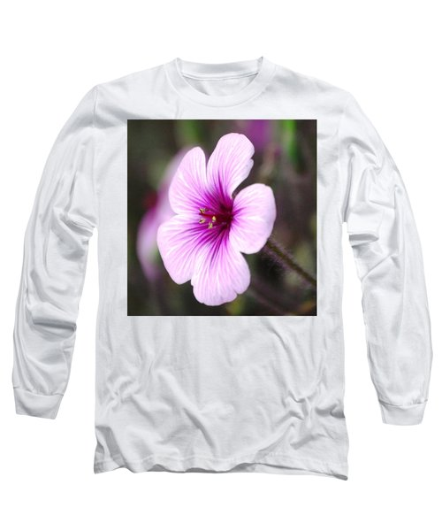 Pink Flower Long Sleeve T-Shirt by Sumoflam Photography