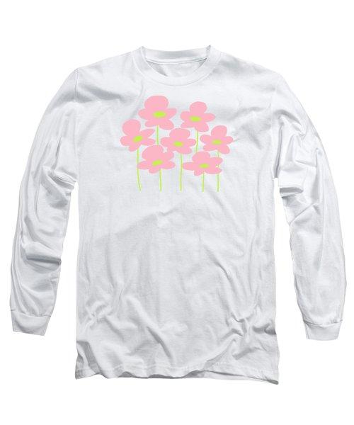 Pink Flowers #1 Long Sleeve T-Shirt