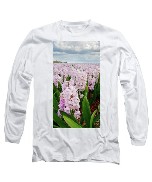 Pink Hyacinth  Long Sleeve T-Shirt by Mihaela Pater