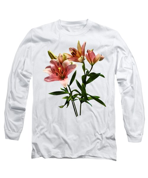 Pink Lily Trio Long Sleeve T-Shirt by Susan Savad