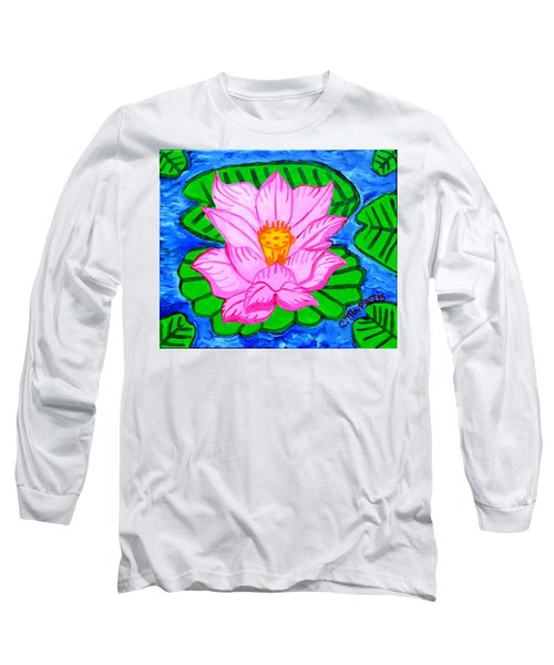 Pink Lotus Flower Long Sleeve T-Shirt