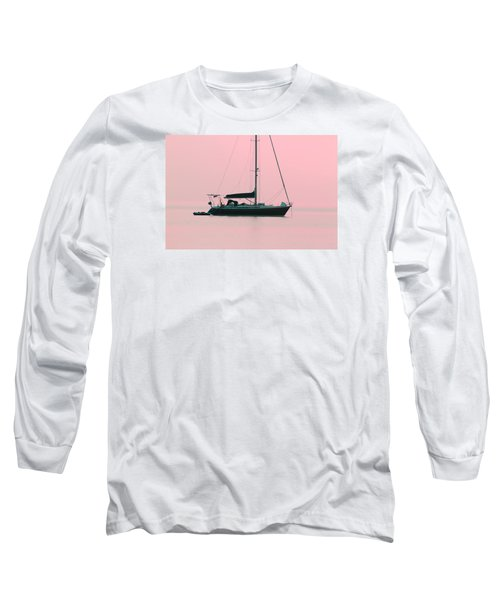 Long Sleeve T-Shirt featuring the photograph Pink Mediterranean by Richard Patmore