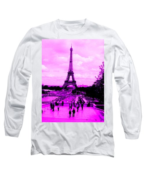 Pink Paris Long Sleeve T-Shirt