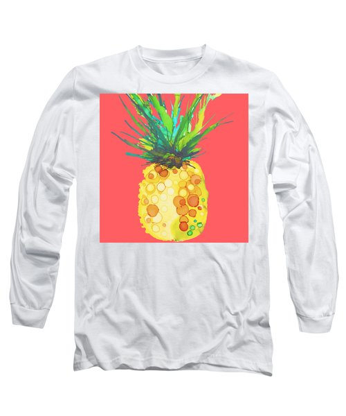 Pink Pineapple Daquari Long Sleeve T-Shirt by Marla Beyer