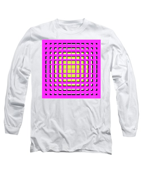 Pink Polynomial Long Sleeve T-Shirt