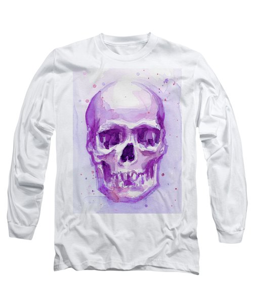 Pink Purple Skull Long Sleeve T-Shirt