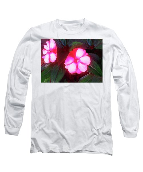 Pink Red Glow Long Sleeve T-Shirt